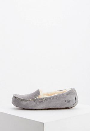 Мокасины UGG. Цвет: серый
