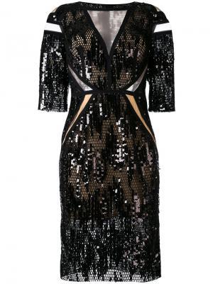 Платье North Way Talbot Runhof. Цвет: черный
