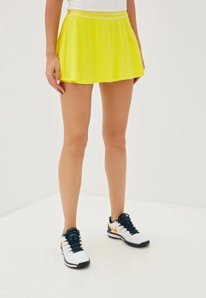 Юбка-шорты Nike. Цвет: желтый