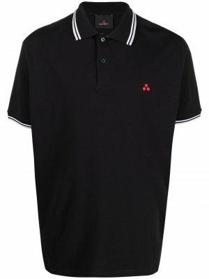 Рубашка поло с короткими рукавами Peuterey. Цвет: черный