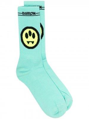 Жаккардовые носки с логотипом BARROW. Цвет: зеленый