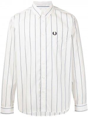 Рубашка оксфорд в полоску FRED PERRY. Цвет: белый