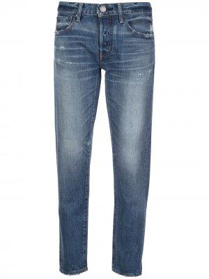 Зауженные брюки Vienna Moussy Vintage. Цвет: синий