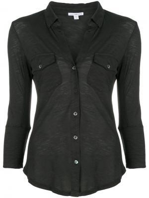 Basic fit shirt James Perse. Цвет: зеленый