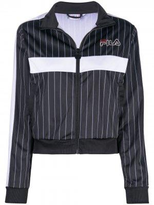 Спортивная куртка в полоску Fila. Цвет: черный