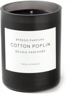 Ароматическая свеча Cotton Poplin Byredo. Цвет: черный