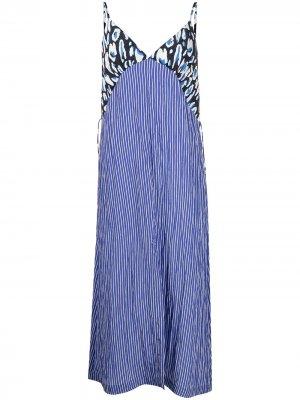 Платье миди с принтом Baum Und Pferdgarten. Цвет: синий