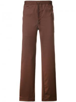Flared relaxed trousers Qasimi. Цвет: коричневый