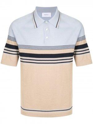 Рубашка поло с контрастными полосками Ports V. Цвет: синий