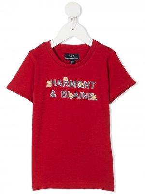 Футболка с графичным принтом и круглым вырезом Harmont & Blaine Junior. Цвет: красный
