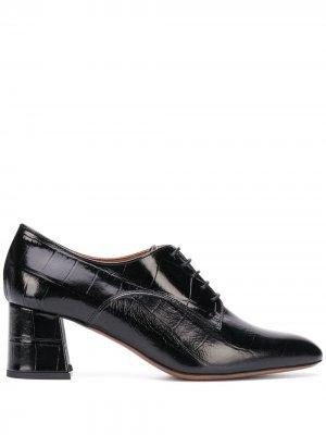 LAutre Chose туфли с тиснением под крокодила L'Autre. Цвет: черный