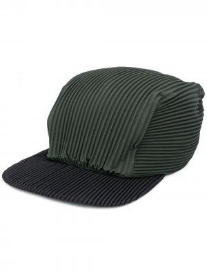 Плиссированная кепка Homme Plissé Issey Miyake. Цвет: зеленый