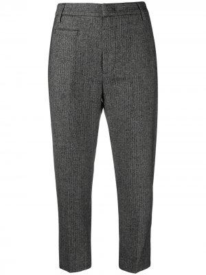 Укороченные брюки строгого кроя Dondup. Цвет: черный