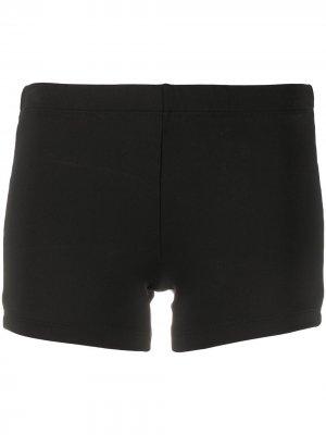 Облегающие короткие шорты Styland. Цвет: черный