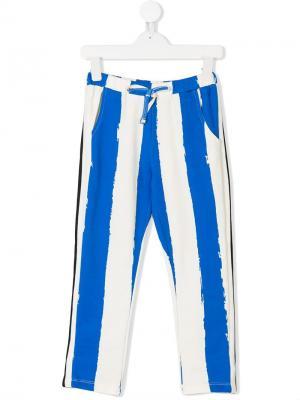 Drawstring waist printed trousers Noé & Zoe. Цвет: синий