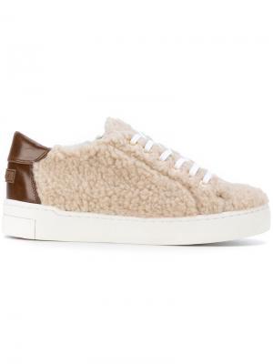 Кроссовки на шнуровке Suecomma Bonnie. Цвет: телесный