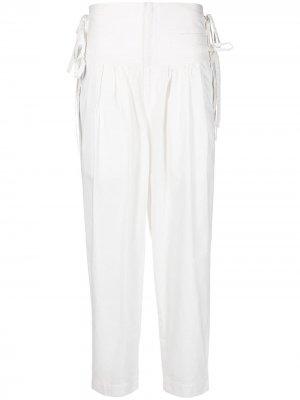 Зауженные брюки с завязками Isabel Marant Étoile. Цвет: белый