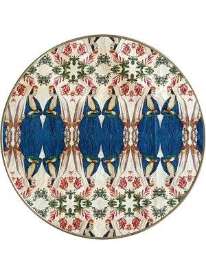 Круглый поднос Patch NYC Les-Ottomans. Цвет: синий