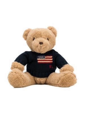 Плюшевый медведь в свитере Ralph Lauren Kids. Цвет: нейтральные цвета
