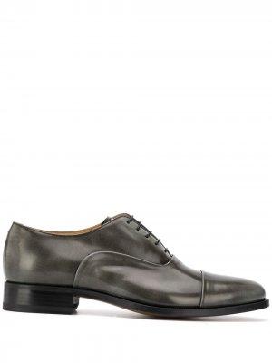 Оксфорды Lorenzo на шнуровке Scarosso. Цвет: черный