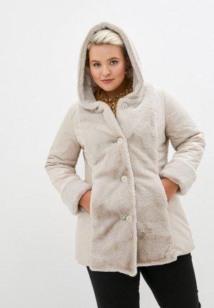 Куртка утепленная Sophia. Цвет: бежевый