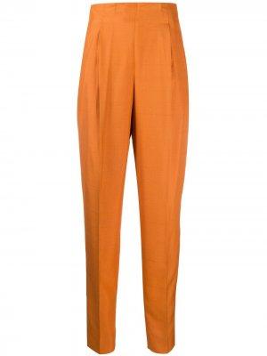 Брюки с завышенной талией и складками 1990-х годов Romeo Gigli Pre-Owned. Цвет: оранжевый