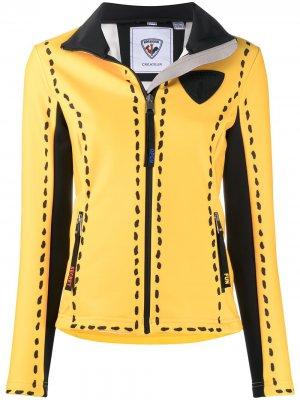 Куртка с нашивкой-логотипом Rossignol. Цвет: желтый