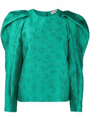 Блузка с рукавами жиго Ulla Johnson. Цвет: зеленый