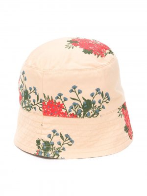 Панама с цветочным принтом Tiny Cottons. Цвет: нейтральные цвета