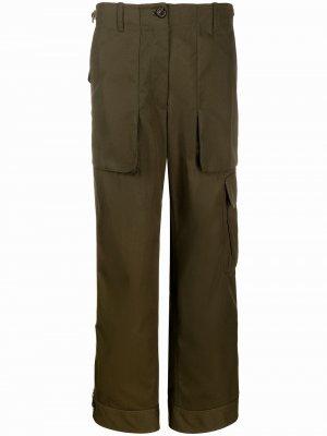 Прямые брюки карго Helmut Lang. Цвет: зеленый