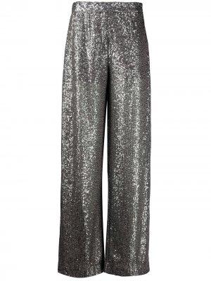 Расклешенные брюки широкого кроя Just Cavalli. Цвет: серебристый