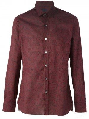 Рубашка с принтом сот LANVIN. Цвет: черный
