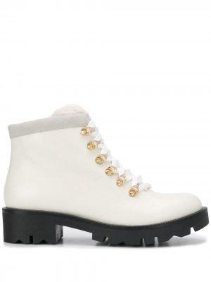 Ботинки на шнуровке Tosca Blu. Цвет: белый