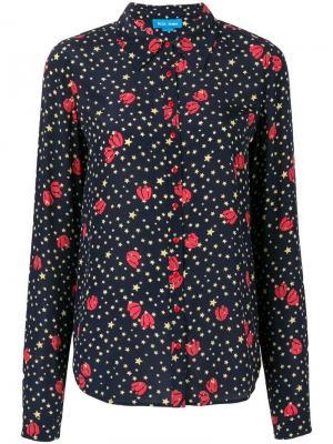 Рубашка Evelyn Mih Jeans. Цвет: синий