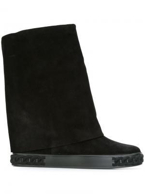 Ботинки с цепочным элементом Casadei. Цвет: чёрный