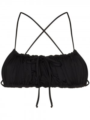 Лиф бикини Dreamy с завязками Frankies Bikinis. Цвет: черный