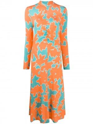 Платье Asher из джерси Stine Goya. Цвет: оранжевый