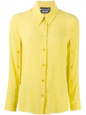 Рубашка с длинными рукавами Boutique Moschino. Цвет: желтый
