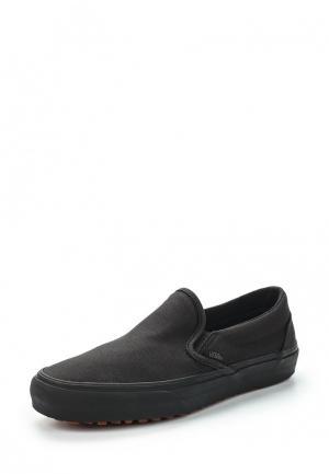 Слипоны Vans. Цвет: черный