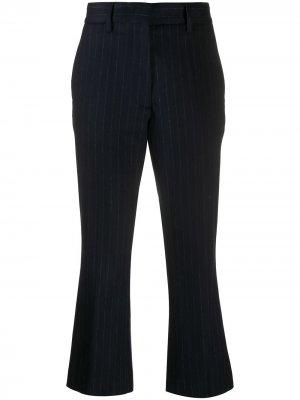 Расклешенные брюки в полоску Barena. Цвет: синий
