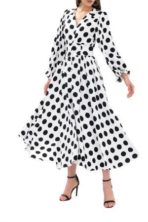 Платье-халат NOELE. Цвет: белый в черный горох