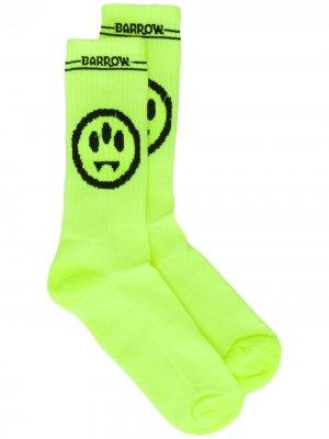 Носки с принтом BARROW. Цвет: желтый