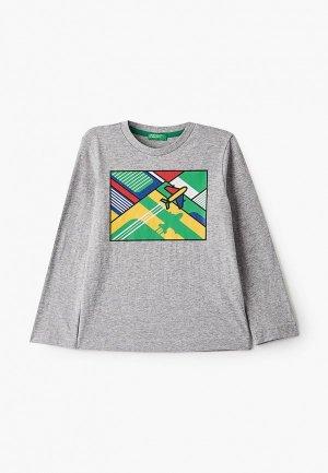 Лонгслив United Colors of Benetton. Цвет: серый