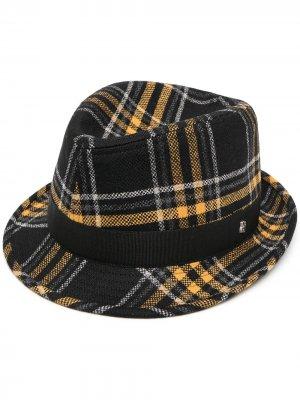 Клетчатая шляпа Chris Tagliatore. Цвет: черный