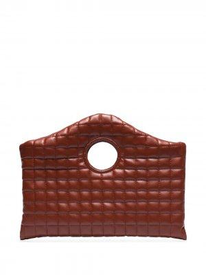 Стеганый клатч Anouk A.W.A.K.E. Mode. Цвет: коричневый