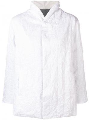 Пиджак с запахом и складками Plantation. Цвет: белый
