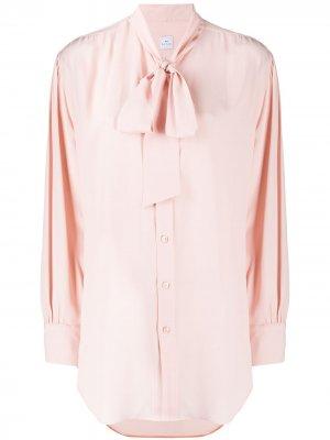 Рубашка с длинными рукавами и бантом PS Paul Smith. Цвет: розовый