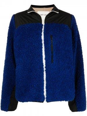 Куртка Rushi в двух тонах Sandy Liang. Цвет: синий