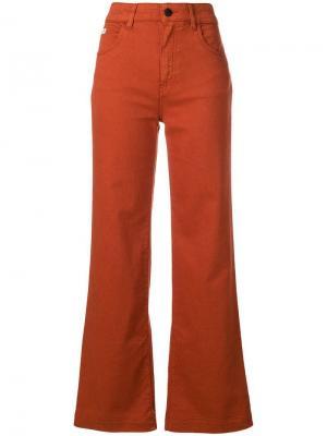 Расклешенные брюки Alexa Chung. Цвет: оранжевый