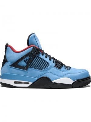 Кеды Nike x Travis Scott Air  4 Retro Jordan. Цвет: синий